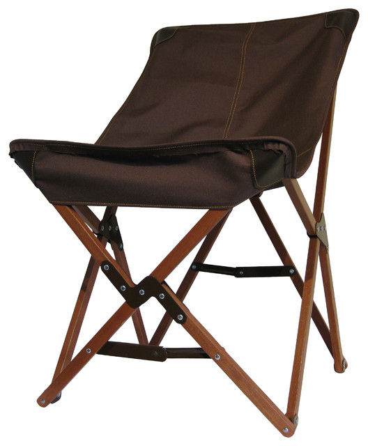 Tripolina Chair, Brown, Canvas - Contemporary