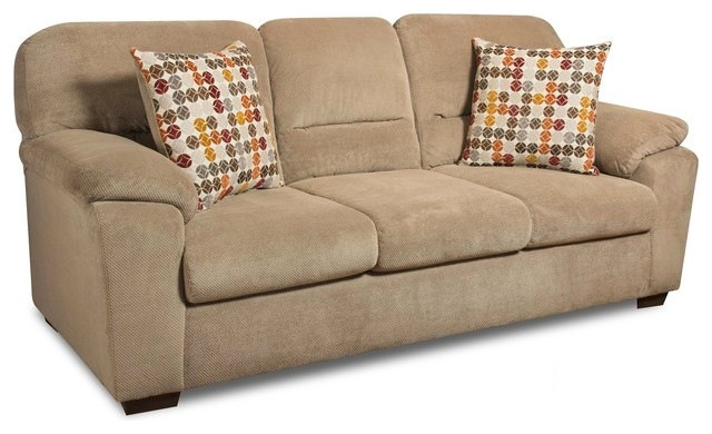 Throw Pillows For Taupe Sofa : Aubrey Sofa, Taupe, 88 - Contemporary - Decorative Pillows - by Chelsea Home Furniture, Inc.