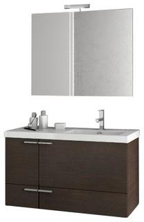 39 Inch Wenge Bathroom Vanity Set Contemporary Bathroom Vanity Units Amp