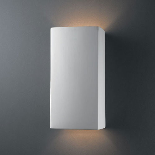 Large Modern Wall Lights : Ambiance Bisque Large Rectangle Two-Light Bathroom Wall Sconce - Modern - Wall Lighting - by ...