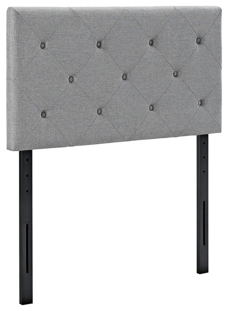 Modway Furniture Terisa Twin Fabric Headboard Light Gray Headboards