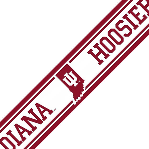 NCAA Indiana Hoosiers Accent Self-Stick Wall Border - Contemporary - Wallpaper - by oBedding