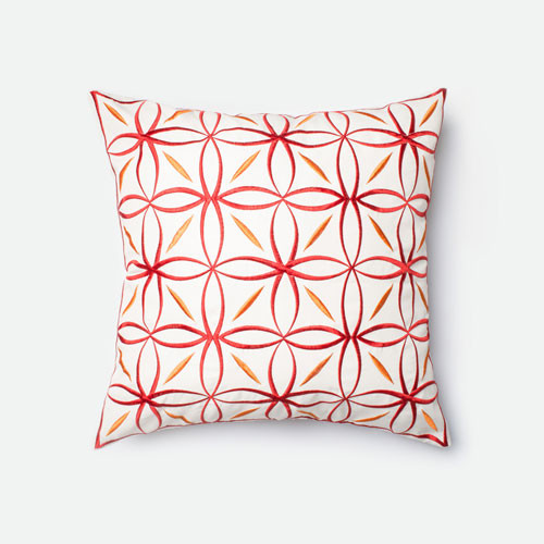 Modern Red Decorative Pillows : Red and Orange 22-Inch Decorative Pillow modern-pillows