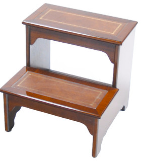Mahogany Leather Bed Step Traditional Ladders And Step Stools By Niagara Furniture