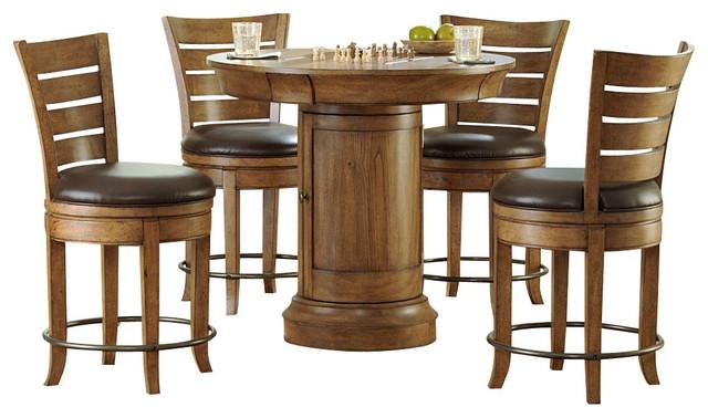 Hammary Hidden Treasures 5-Piece Round Pedestal Pub Table