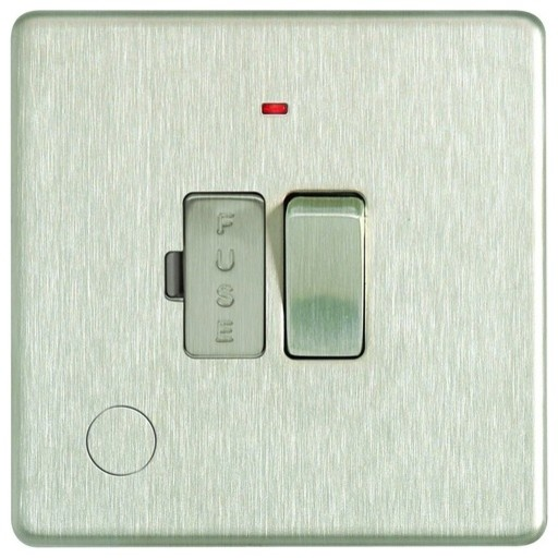 13a switched fused connection unit led modern light switches plug sockets by wickes - Modern switches and sockets ...