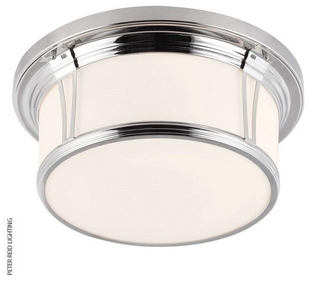 Bathroom ceiling lights flush mount : Woodward large flush mount bathroom ceiling light