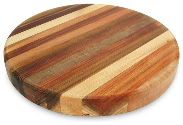The Big Chop Round Board 5 Timbers 33x4cm Contemporary