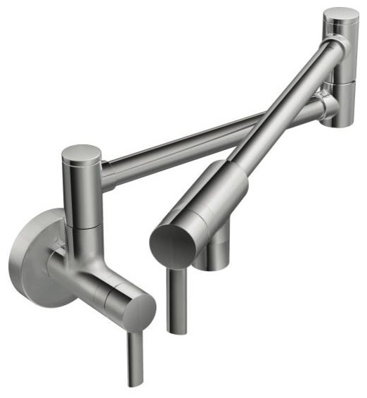 Moen S665 2 Handle Wall Mount Kitchen Pot Filler Faucet Modern Pot Fillers By Faucet Warehouse
