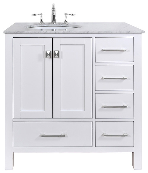 Left Side Sink Vanity : 36