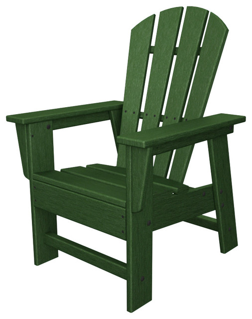 Kids Adirondack Chair Green All Weather Recycled Plastic