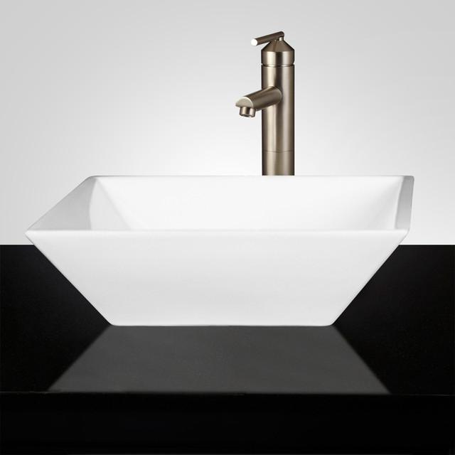 Square Vessel Bathroom Sink : Southcrest Square Vessel Sink - Traditional - Bathroom Sinks - by ...