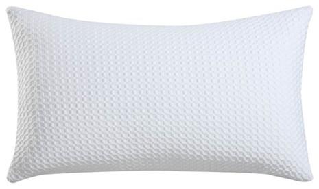 White Cooling Queen Memory Foam Pillow - Modern - Pillows - by Bellacor