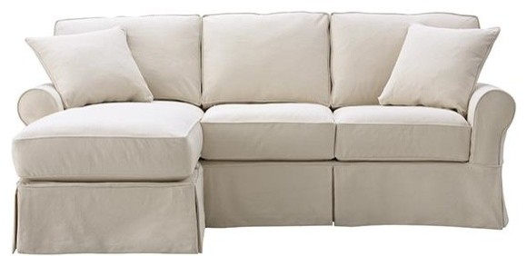 mayfair slipcovered sofa with chaise traditional sectional sofas