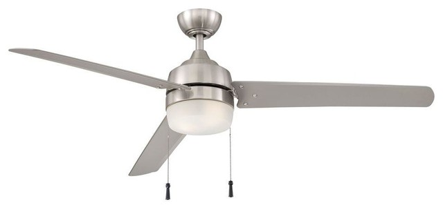 Home Decorators Collection Ceiling Fans Carrington 60 In Brushed Nickel Contemporary Ceiling Fans