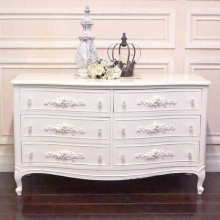 chic white rose 6 drawer dresser mediterranean los angeles by the bella cottage. Black Bedroom Furniture Sets. Home Design Ideas