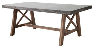 Dining Table Cement And Natural Farmhouse Outdoor Dining Tables