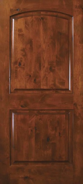 Slab home interior single door 80 knotty alder 2 panel - 30 x 80 exterior door with pet door ...