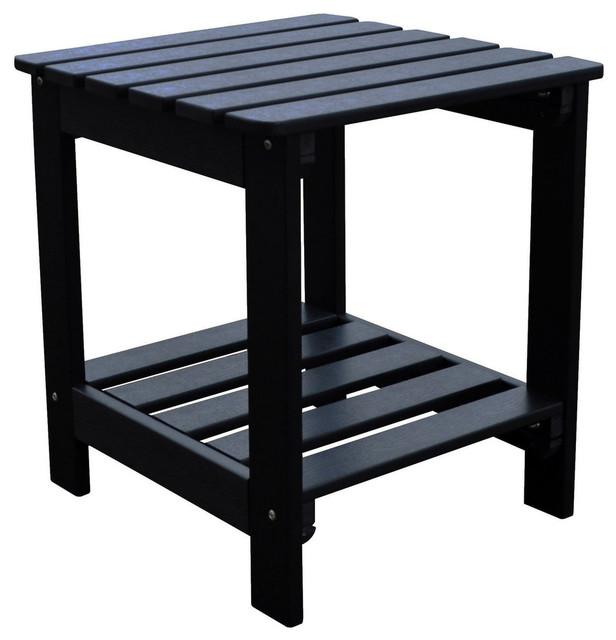square side table black outdoor side tables by shine company inc. Black Bedroom Furniture Sets. Home Design Ideas