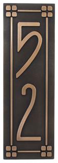 vertical american craftsman home numbers 6 x 18 in. Black Bedroom Furniture Sets. Home Design Ideas