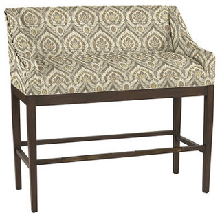 Marcello Counter Bench With Antique Brass Nailheads