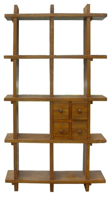 Elmwood Display Cabinet - Rustic - Bookcases - by Golden Lotus Antiques