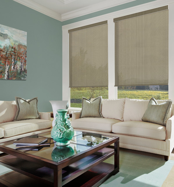 Boutique Lustrous Solar Shades Farmhouse Roller Shades