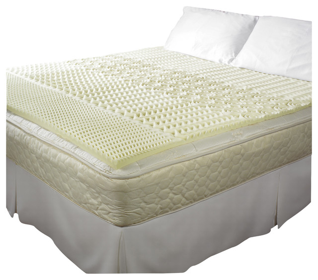 pure rest 5 zone memory foam topper full double. Black Bedroom Furniture Sets. Home Design Ideas