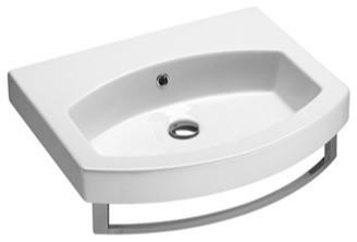 Wall Mounted, Vessel, or Self Rimming Bathroom Sink, No Faucet Hole ...