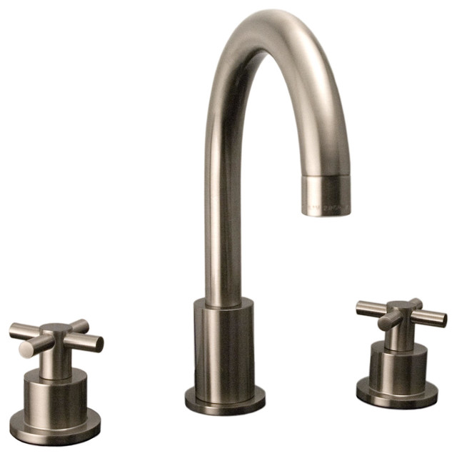 ... with Cross Handles - Contemporary - Bathroom Faucets And Showerheads