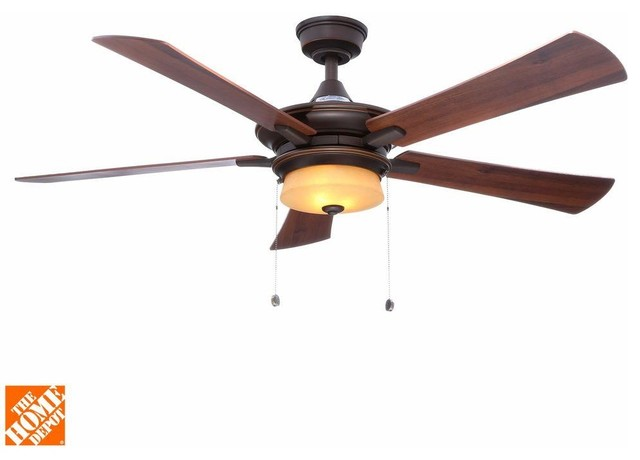 Hampton Bay Ceiling Fans Winthrop 52 In Rustic Bronze