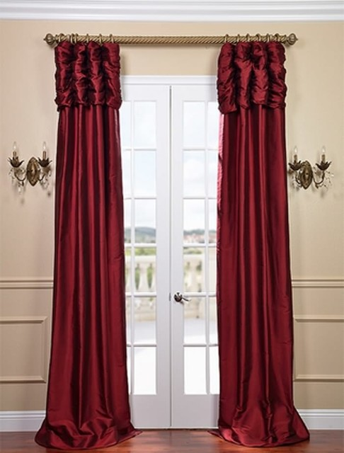 Ruched Bold Red Curtain Traditional Curtains San