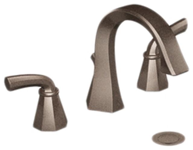 Moen CATS448ORB Bathroom Faucet Oil Rubbed Bronze Modern Bathroom Sink Fa