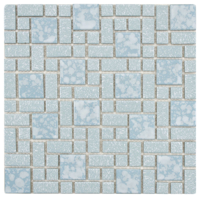 Somertile academy blue floor and wall for 10 inch floor tiles