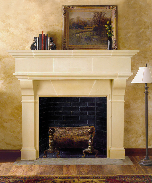 brunswick cast stone fireplace mantel traditional