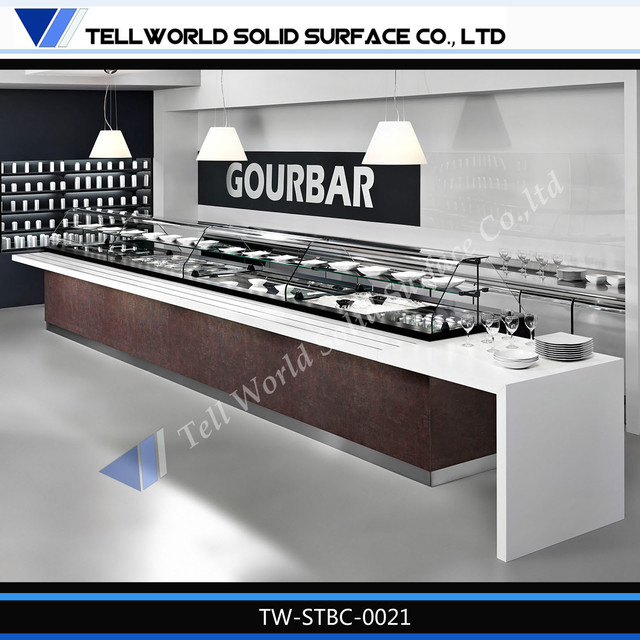 Modern artificial marble buffet bar counter designs modern bar counter modern indoor pub and - Contemporary bar counter design ...