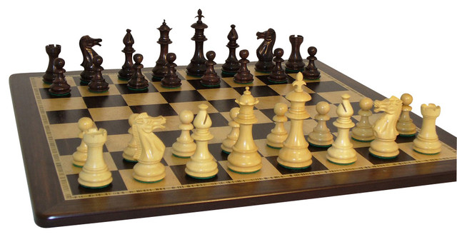 World Wise Imports Rose Wood Royal Chess Set - Traditional - Board Games And Card Games - by ...