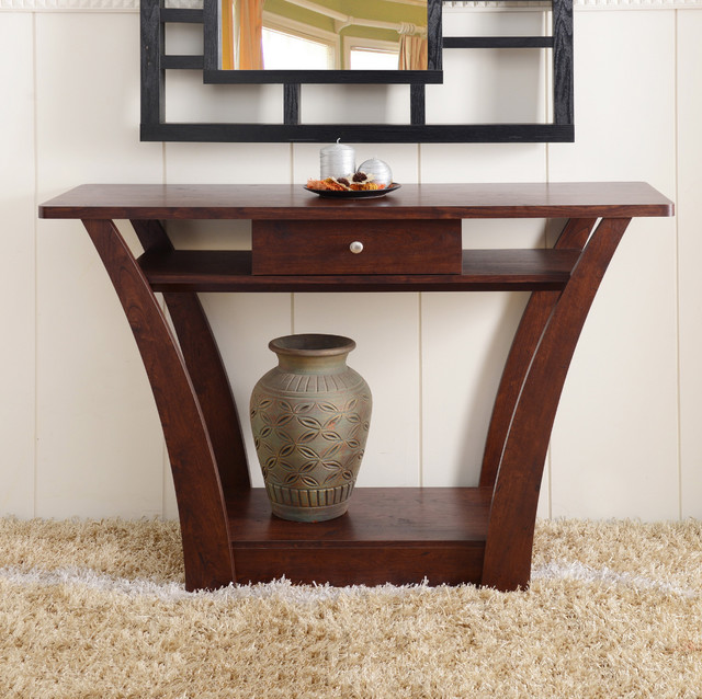 Overstock Foyer Furniture : Furniture of america magnolia modern drawer dark walnut