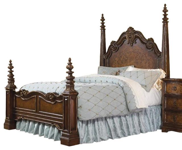Hooker furniture beladora queen poster bed ends jul for Beladora bedroom set