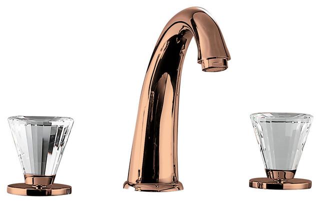 Bathroom Faucet With Big Swarovski Crystal Polished Chrome