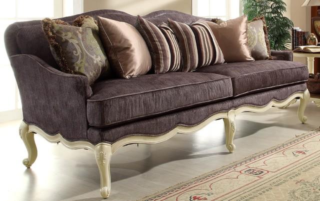 Victorian chenille casanova ii sofa 1589nf 3 by for Sofa 3 cuerpos casanova austin