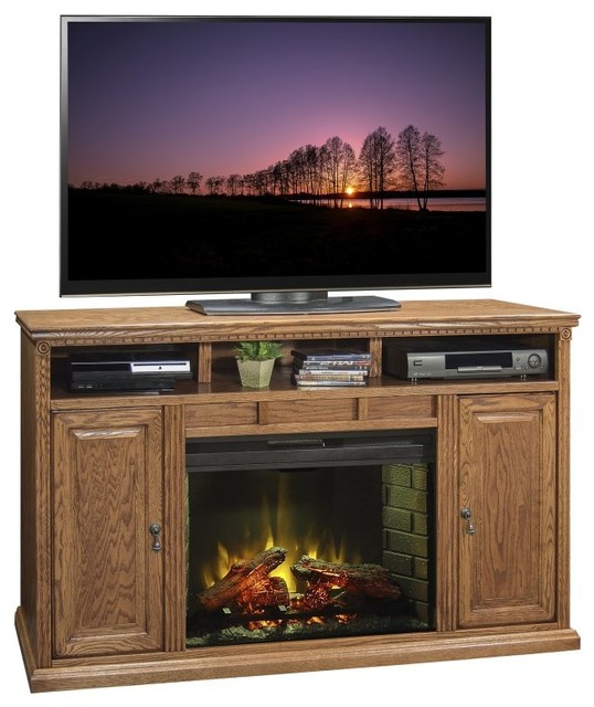 Legends Furniture Scottsdale 63 in. Electric Media Fireplace - SD5101.RST - Contemporary ...