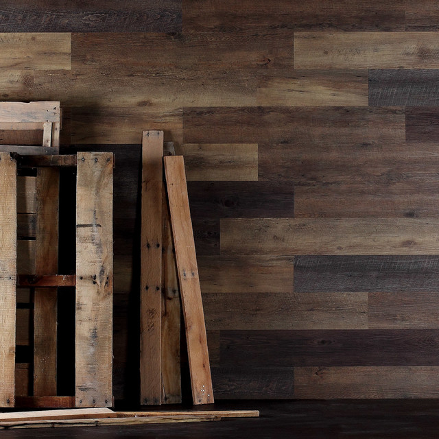 Rustic Wall Paneling ~ Inhabit plank pallet wood wall paneling rustic
