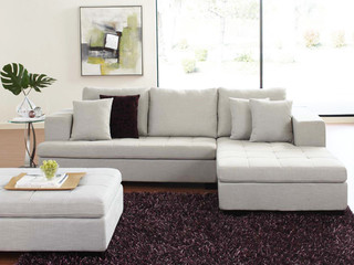 Mirak Sectional With Ottoman Contemporary Sectional