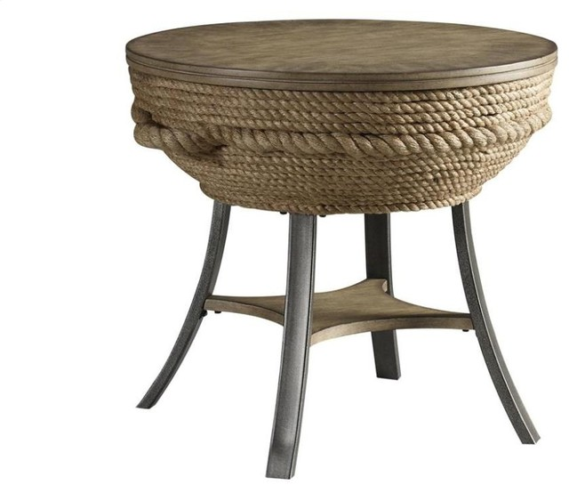 Crescent Key End Table Beach Style Side Tables And End