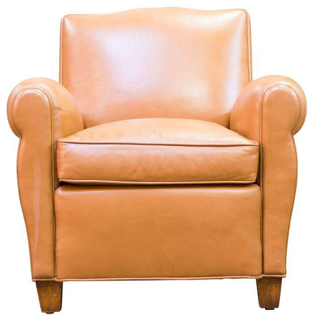 Caramel Colored Accent Chair: SOLD OUT! Caramel Leather Club Chair