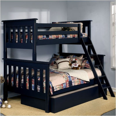 Alligator Slatted Twin Over Full Bunk Bed Contemporary