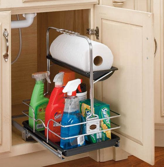 rev a shelf removable under sink caddy eclectic pantry and cabinet organizers by home. Black Bedroom Furniture Sets. Home Design Ideas