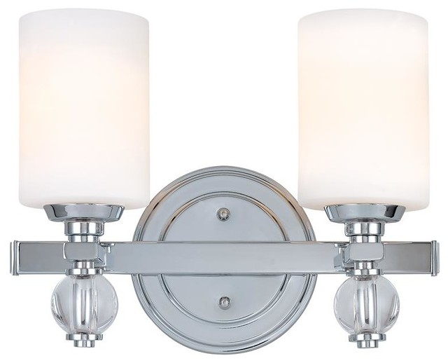 Troy Lighting B1582pc Polished Chrome Bentley 2 Light Bathroom Vanity Light Transitional