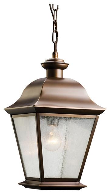 Traditional Outdoor Pendant Lighting : Kichler lighting mount vernon light outdoor hanging